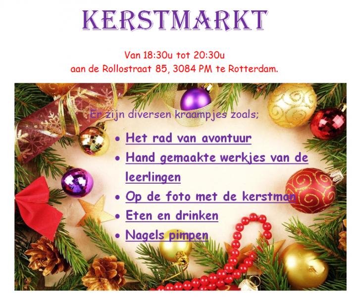 Kerstmarkt Dr. A. van Voorthuysenschool